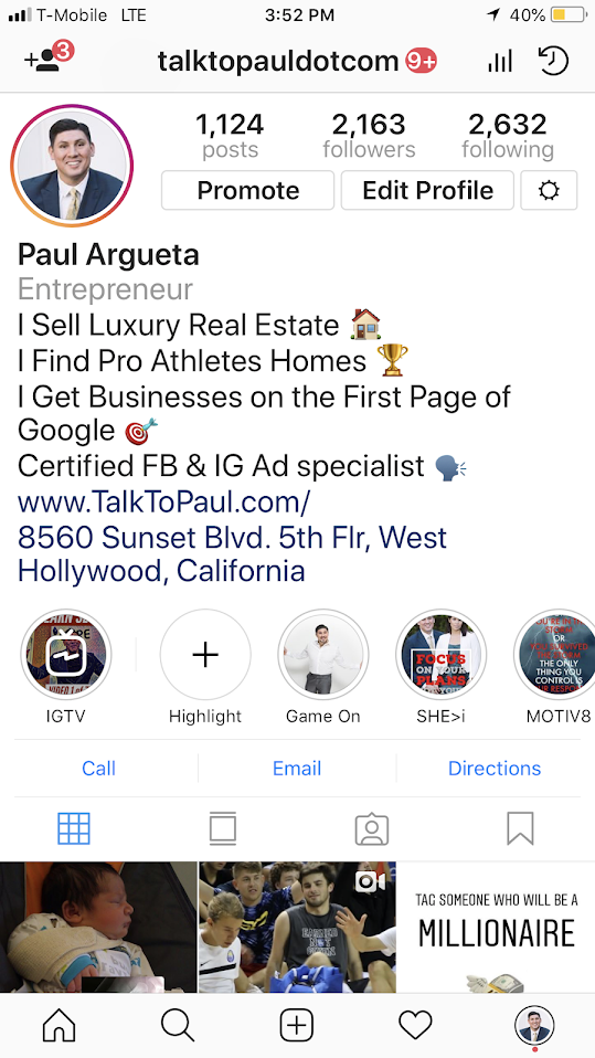 IG Profile How to use Instagram to Earn 6 figures Best Real Estate Agent in Los Angeles Best Realtor in LA Celebrity Real Estate Agent Luxury Real Estate Agent